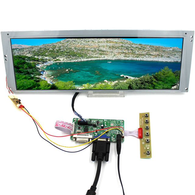 DVI VGA LCD Scheda del Controller con 14.9 pollici LTA149B780F 1280x390 20pin 2CCFL Retroilluminazione del pannello A CRISTALLI LIQUIDI
