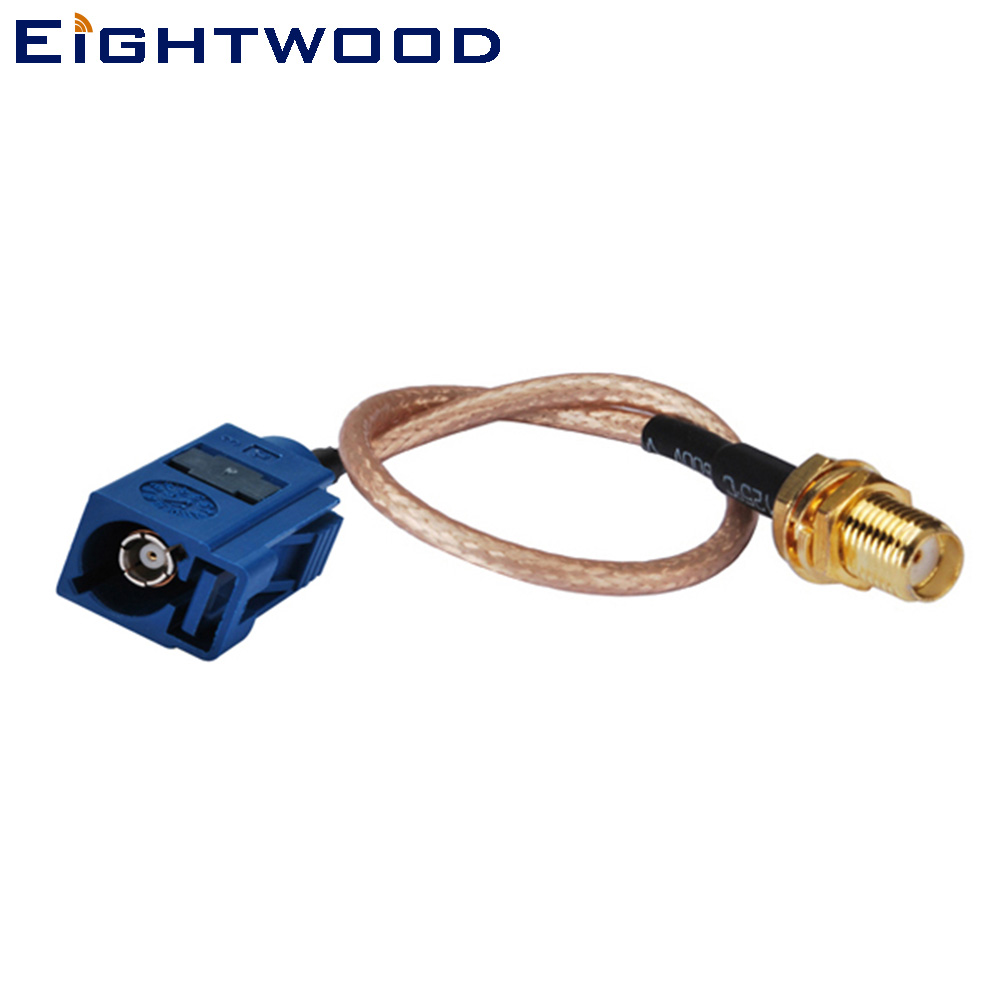 Eightwood Car <font><b>GPS</b></font> Antenna <font><b>Adapter</b></font> Cable <font><b>Fakra</b></font> C Male to SMA Female Bulkhead Straight Pigtail Cable RG316 15cm Customizable image