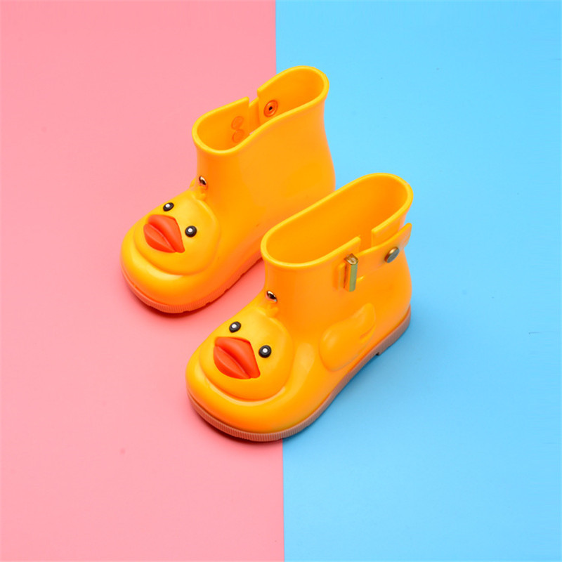 Mini Melissa Waterproof Child Rubber Boots Jelly Soft Yellow Infant Shoe Girl Boots Baby ...