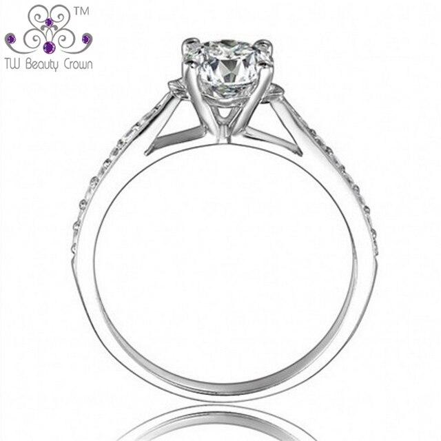 Настоящее серебро 925 пробы, высокое качество, микро резьба, кубический цирконий имитирующий бриллиант, обручальные кольца, наборы для женщин, подарки на день Святого Валентина