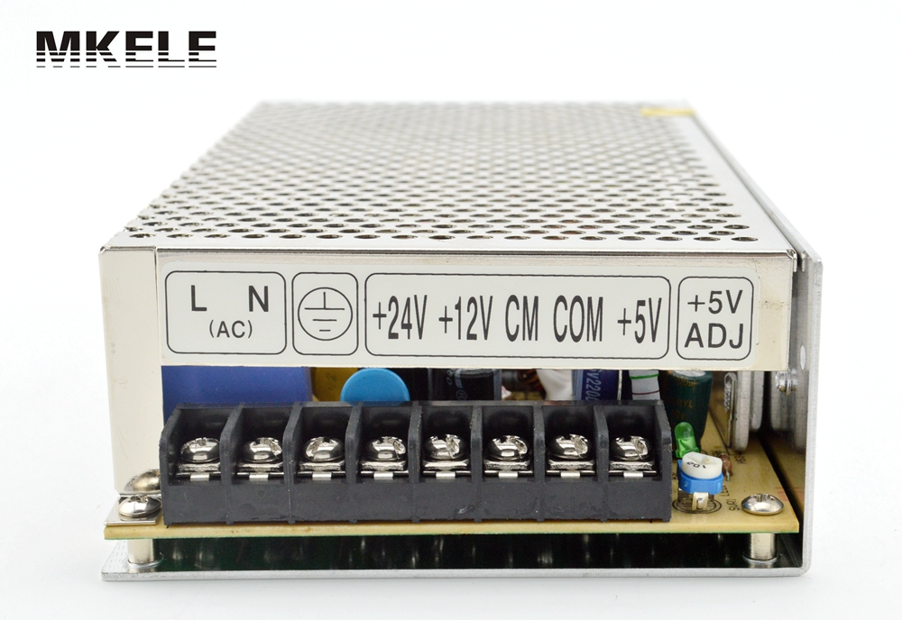Triple Output switching power supply 100W 5V 2A 12V 2A 24V 3A ac to dc power supply T-100E high quality CE approved meanwell 12v 350w ul certificated nes series switching power supply 85 264v ac to 12v dc