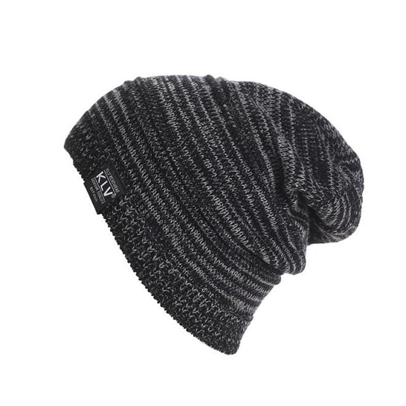 Brand Fashion Warm Cap Men Casual Hip-Hop Hats Knitted Wool Skullies Beanie Hat Warm Winter Hat for Women Drop Shipping 2017 New
