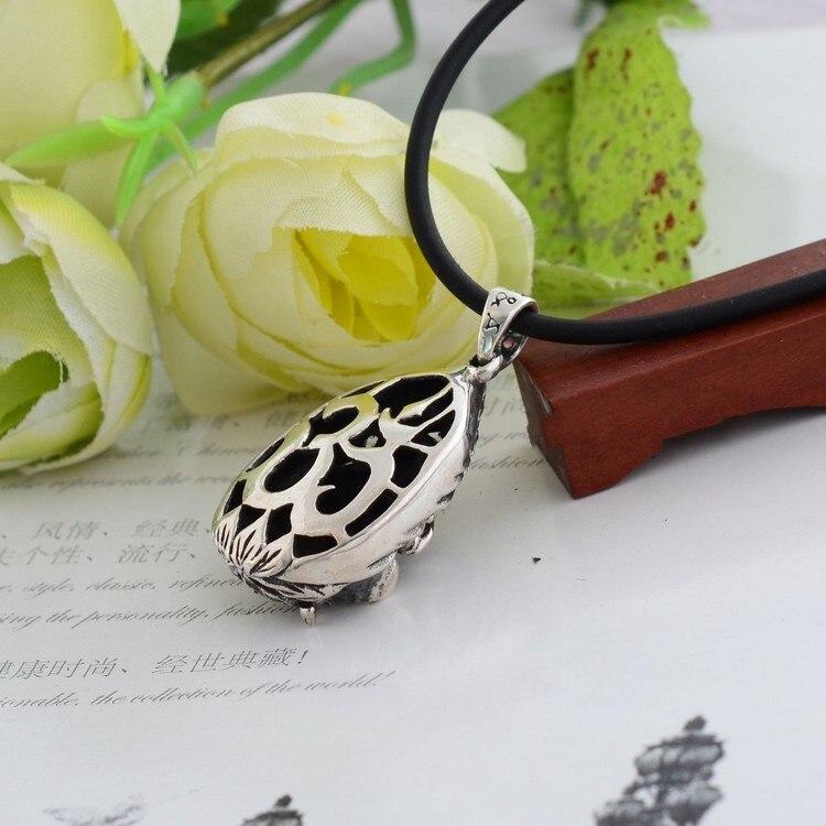 925 пробы серебряные ювелирные изделия Винтаж Серебряный кулон Ганеш 039076w