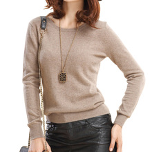 Uwback Women Sweater Knitted Cashmere2017 Autumn Cheap Wool Sweaters Knitting Fall Winter Warm Pullover Candy Color, KB778