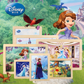 12pcs Disney Frozen Anna and Elsa Puzzle Early Learning Educational Toy Wooden Puzzle Toys For Children Kids Gift CF1144H