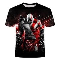 God of War Kratos, 3D принт, футболка с персонажем, Новая Мужская/женская футболка с дэдпулом, Повседневная футболка с круглым вырезом, Футболки унис...