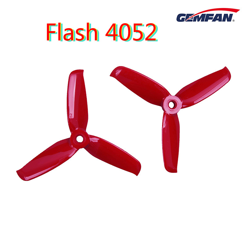 24 pcs / 12 Pairs Gemfan Flash <font><b>4052</b></font> 4 inch tri-blade Propeller Flash Props CW CCW Brushless Motor propeller For FPV RC Drones image