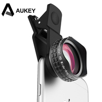 AUKEY Optic Pro Lens 110 Degree HD Wide Angle Phone Camera Lens Kit With Cell Phone