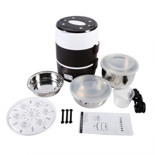 Liner Rice Cooker Electric Heated Heating Lunch Box Set Food Warmer Container Bento Portable