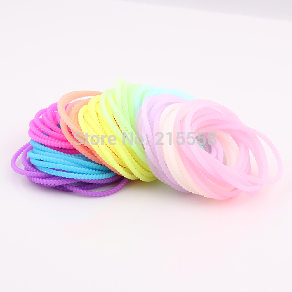 New Arrival Neon Rubber Band Bracelets & Bangles Friendship Bracelet Birthday Christmas Party Women Gift Jewelry Wholesale ZB113