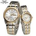 Оригинал Кварцевые влюбленных Часы Аутентичные GUANQIN Пару Часов Мода Европа Как подарки для Вашего Любовника