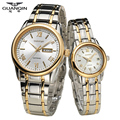 Original GUANQIN Casal dos amantes de Quartzo Relógios Autênticos Relógios de Moda Da Europa Como presentes para Seu Amante