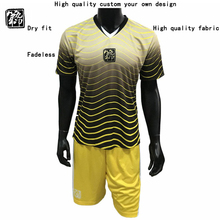 ФОТО 2018 college soccer jersey for men custom group soccer uniform suit football set with long sleeve shirt and sports short
