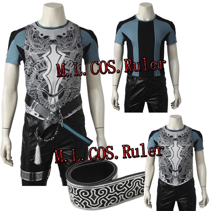 Nouveau FF15 kingsglaive Final Fantasy XV Nyx Ulric Cosplay Costume T-shirt et gilet
