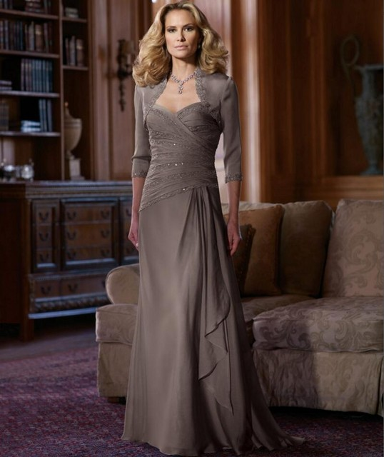 Novo luxo 2016 mãe da noiva vestidos Chiffon para vestidos de festa de casamento Formal vestido Plus Size