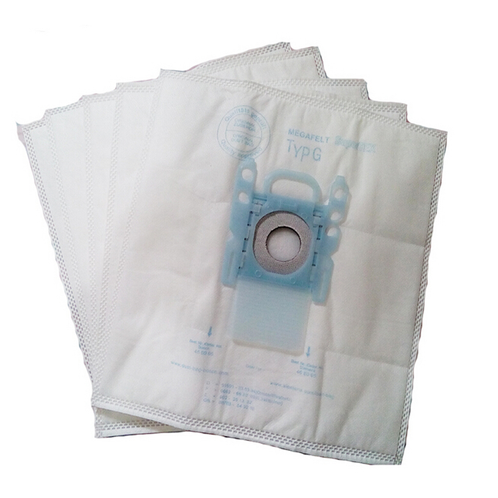 New 5 PCS vacuum cleaner dust bag replacement for Genuine Bosch Microfibre Type G GXXL GXL MegaAir SuperTex Dust Bags BBZ41FGXXL 10 pcs vacuum cleaner dust bag replacement for genuine bosch microfibre type g gxxl gxl megaair supertex bbz41fgxxl nonoriginal