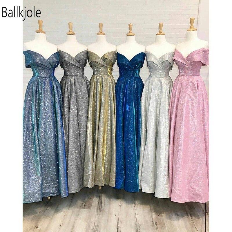 Ballkjole bleu Royal nouvelle arrivée robe de bal robes de bal 2019 personnalisé enveloppe hors épaule décolleté dos nu Vintage soirée