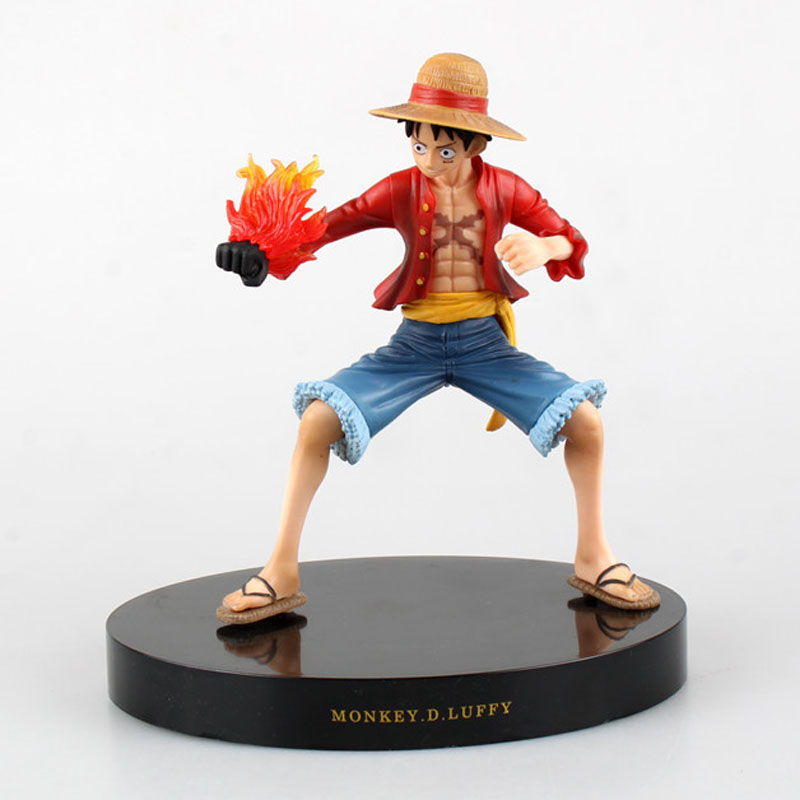 Free Shipping 7 One Piece Anime Monkey D Luffy Prize A Fire Fist Gun Ver. Boxed 18cm PVC ...