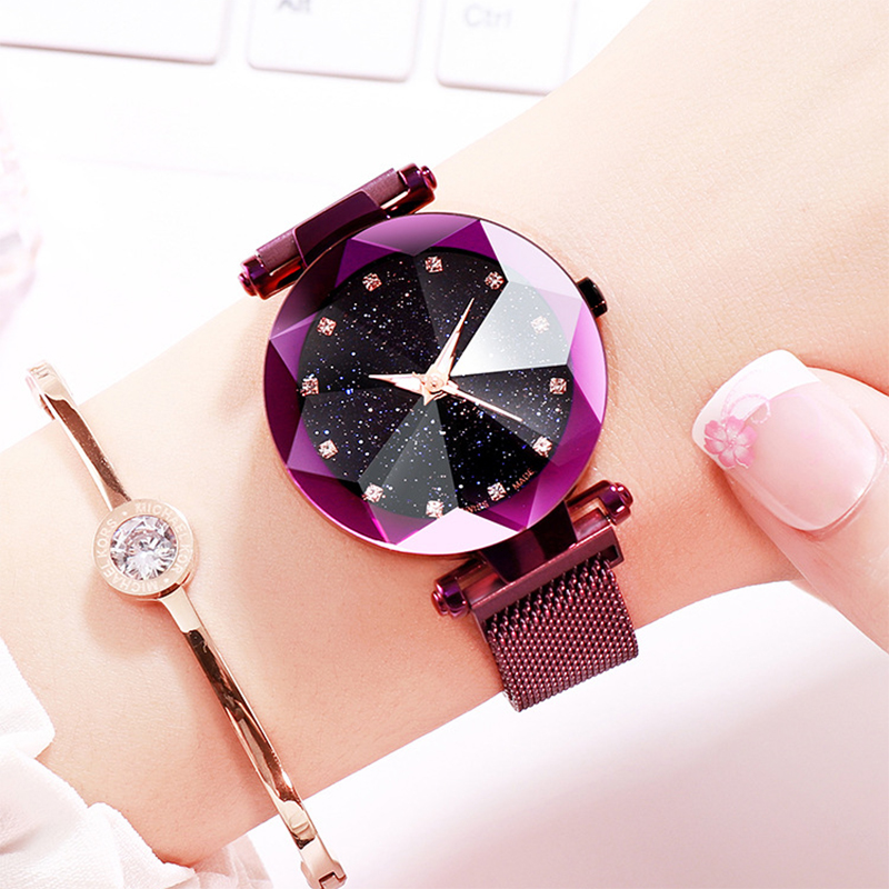 2019 New Luxury Starry Sky Women Watches Fashion Exquisite Unique Design Magnetic Buckle Ladies Watch Stylish Casual Woman Clock