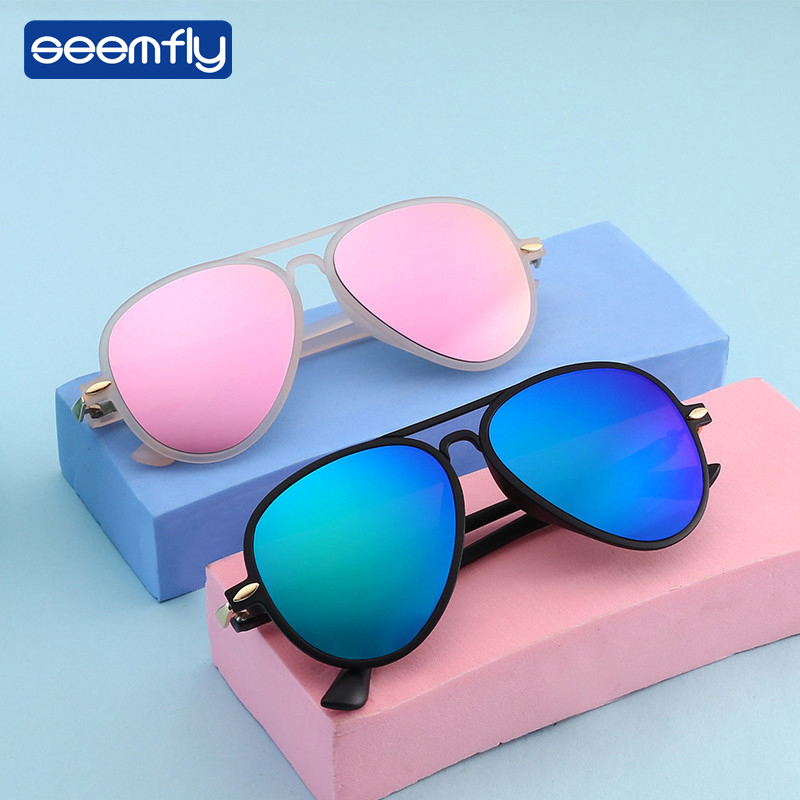 Seemfly Fashion Ultralight Baby Sunglasses Pilot Sun Glasses Kids Outdoor Ultraviolet-Proof Eyeglasses Eyeware For Girls&Boys