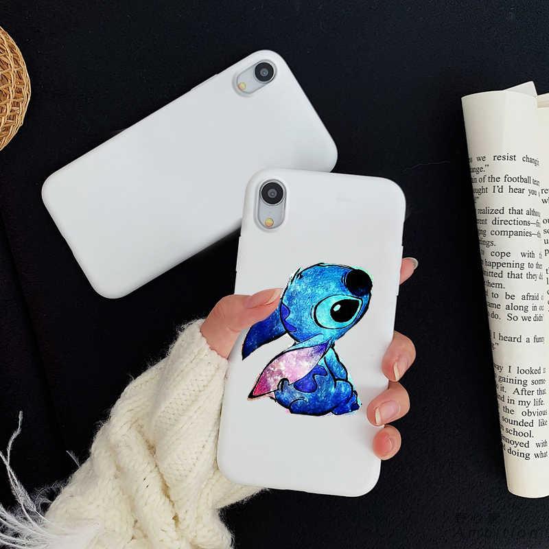 جميل الكرتون غرزة اللون سيليكون لينة TPU الهاتف حالات ل iPhone5 5s se 6 6p 6s 7 8 زائد X XR Xs ماكس 11 11pro 11 بروماكس