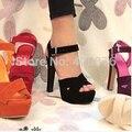 Frete grátis NOVO salto alto sandálias da moda as mulheres se vestem sapatos chinelos sensuais venda quente EUR tamanho 34-43