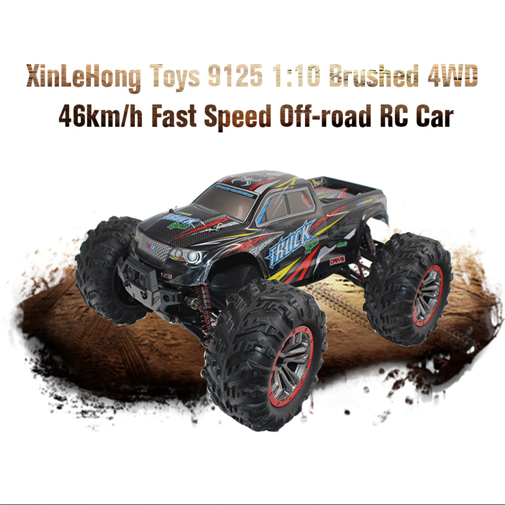 RC Car 9125 2.4G 1:10 1/10 Scale Racing Cars Car Supersonic Monster Truck Off-Road Vehicle Buggy Electronic Remote Control Toys 4pcs spare 536010 hexagon axle sleeve fitting for fs racing 1 10 scale rc desert buggy style truck