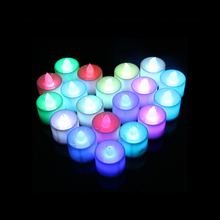 24Pcs Floating Flameless LED Tealight Tea Candles Light for Wedding Birthday Party Decoration Lamp  KM88 недорого