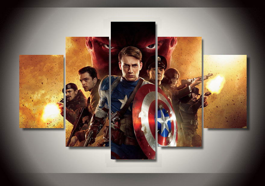 Captain America Wall Art aliexpress : buy famous movie posters captain america painting
