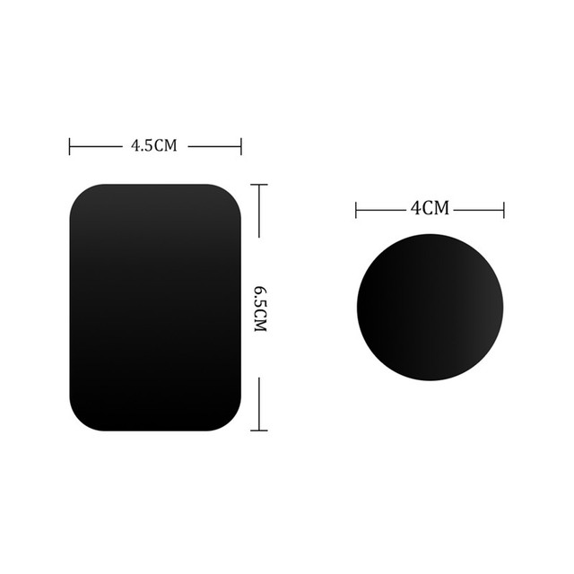 Hot sale Metal Plate Universal Replacement Metal Plate Kit With Adhesive for Magnetic Car Mount Phone Holder Magnet Mobile Stand 5