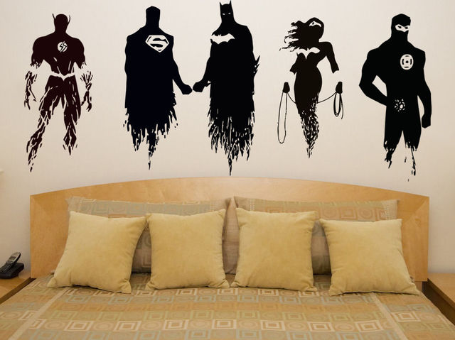 Wall Decal Vinyl Sticker DC Super Hero Justice League