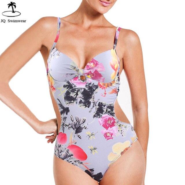 09029c2d31 2017 Maillot de bain Beachwear Maillot Une Pièce Femmes Vintage Rétro  Tribal Floral Push Up Backless