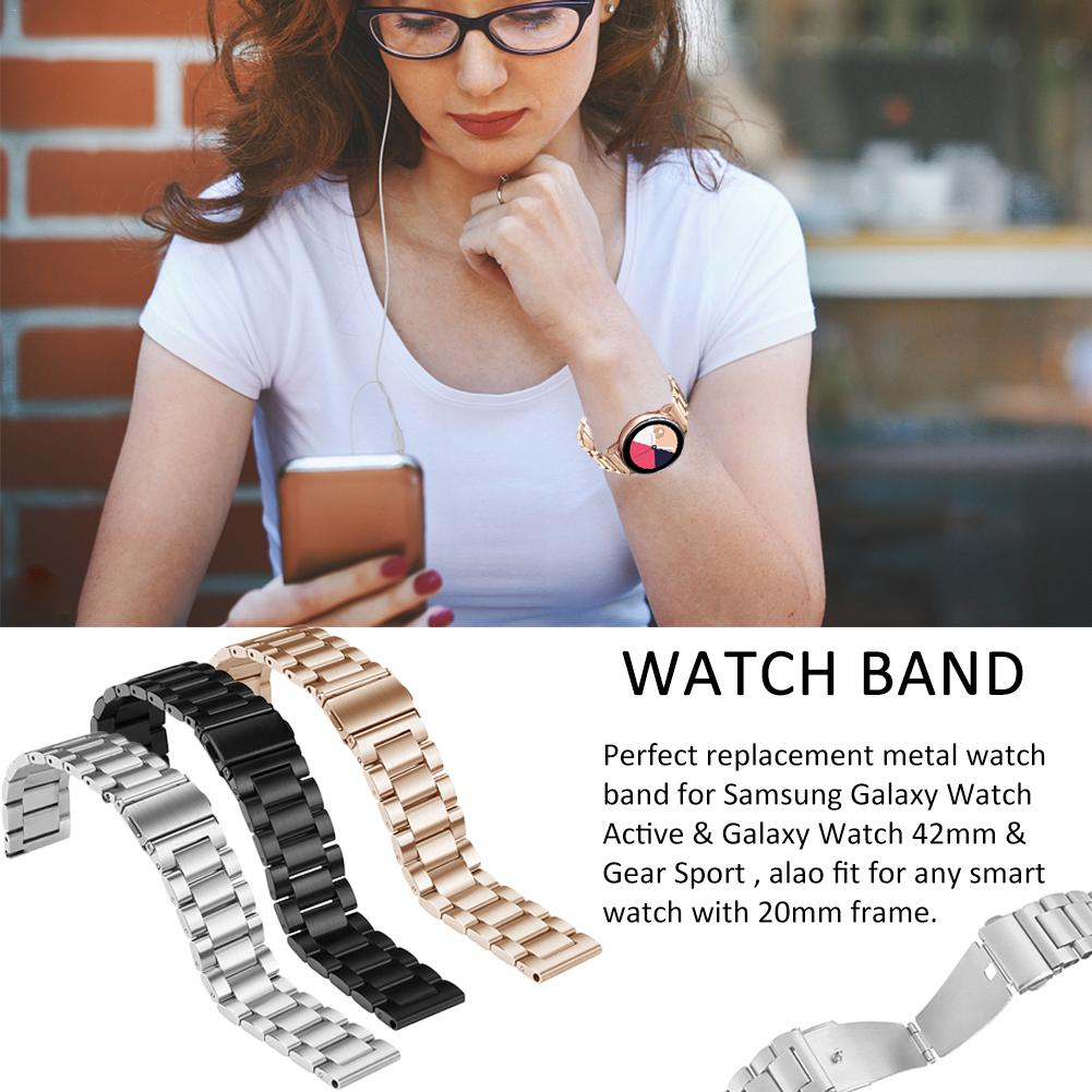 Image 2 - New 20mm Quick Release Stainless Steel Metal Bands Replacement Strap Compatible For Samsung Galaxy Watch Active Bands-in Smart Accessories from Consumer Electronics