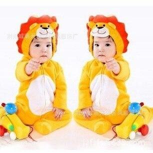 Peluche Costume Lion Animal Enfants Fourrure overall fille garçon bébé jeunes enfants lion