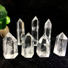 Natural clear gem obelisk crystal wand point healing provide energy Home & Wedding office decor