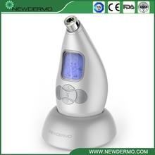 Dispositivo facial de microdermoabrasión Personal NEWDERMO Pro de plata 3,7 V, masaje de belleza para el cuidado de la piel, envío gratis