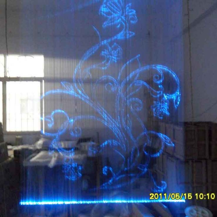 Fiber Optic Light Curtain Wall Calligraphy And Painting Led Waterfall In Pendant Lights From