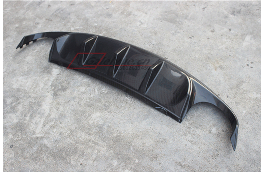 For Jaguar XF 2012.2013.2014.2015 Carbon Fiber Rear Lip Spoiler Bumper Diffuser High Qua ...