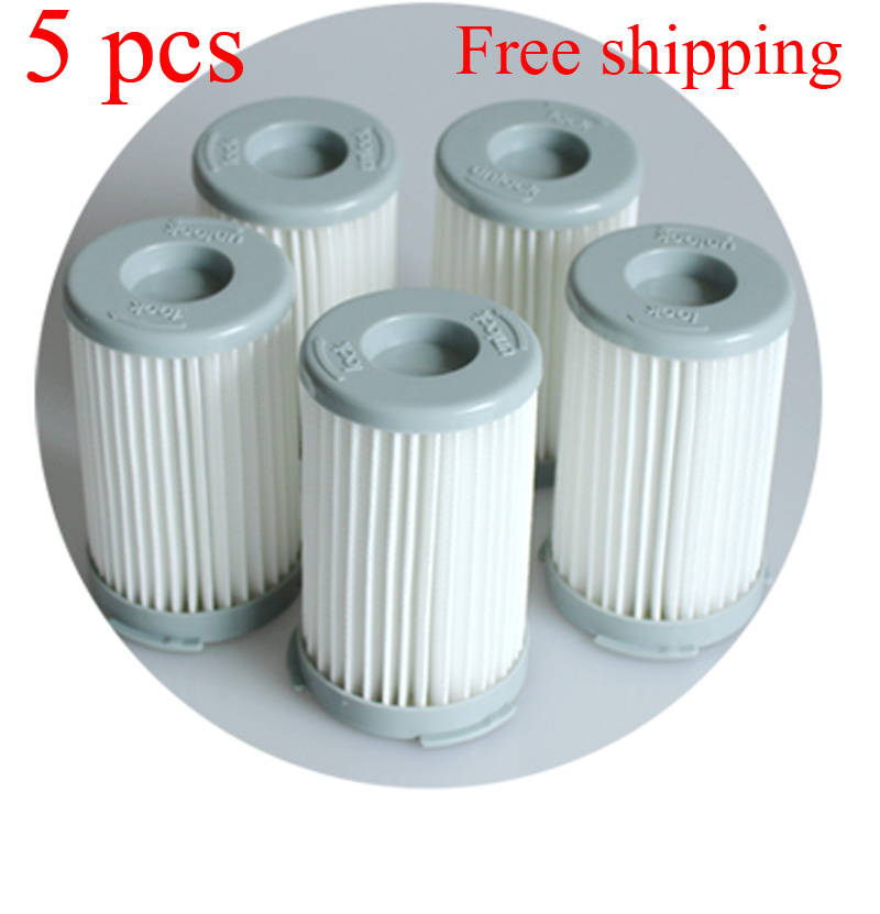 5pcs/lot Vacuum Cleaner Cartridge Pleated HEPA Filter for Electrolux ZS203 ZTI7635 ZW1300-213 Replacement