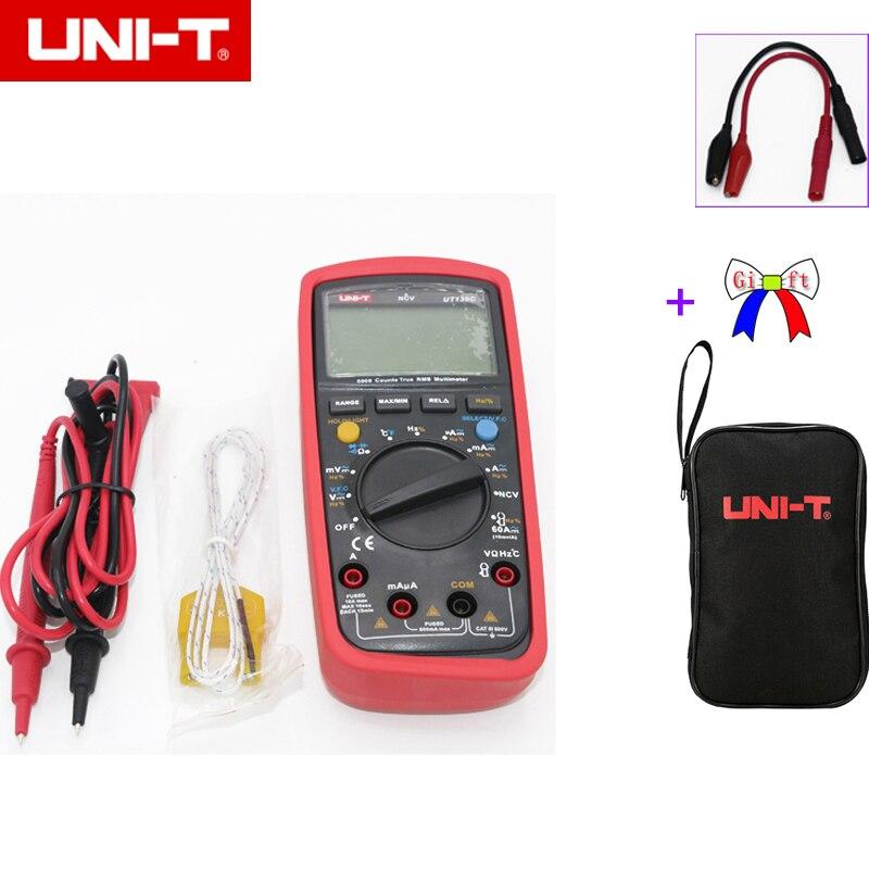 UNI-T UT139C True RMS 3 5/6 LCD multimètre numérique testeur de poche électrique Multimetro LCR compteur ampèremètre multitesteur avec sac