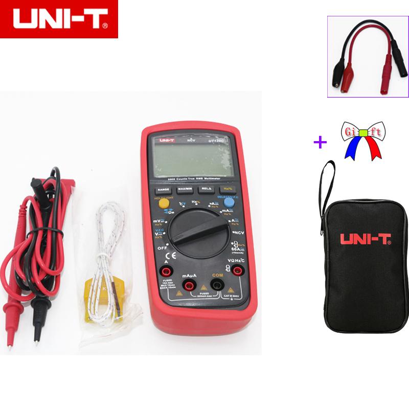 UNI-T UT139C Vero RMS 3 5/6 LCD Multimetro Digitale Elettrico Handheld Tester Multimetro LCR Meter Amperometro Multitester con il sacchetto