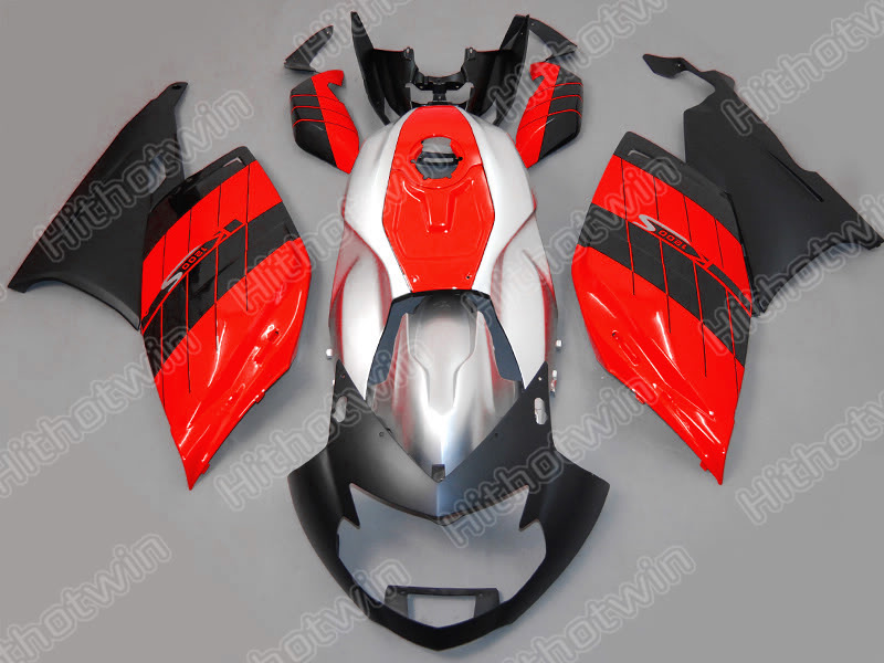 Injection mold fairings for BMW K1200S 05 06 07 08 red silver black fairing kit K1200S 2005-2008 NM25