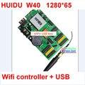 Из светодиодов / два цвета контроллер + usb поддержка, Функцией wi-fi, Управления размер 64 * 1280 ; p10 из светодиодов вход карта, Поддержка hub12, Hub08