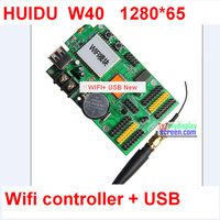 Led single / two color controller + usb support ,wifi function, control size 64*1280; p10 led sign card,support hub12, hub08