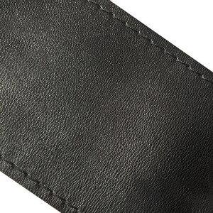 Image 5 - Universale In Pelle In Fibra di Copertura del Volante Dellautomobile Con Soft Anti Slip Nero FAI DA TE Braid & Aghi Discussione Misura Per 38 centimetri di Diametro