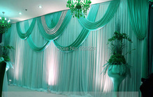 wedding stage curtain with Beatiful Swag Wedding drape and curtain wedding backdrop 3m*6m marriage stage curtain