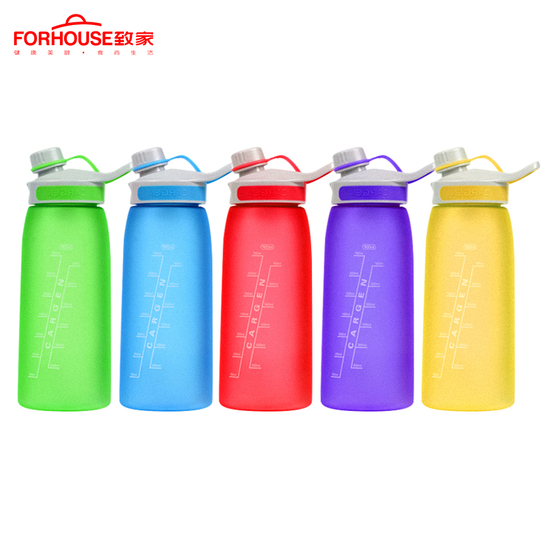 900ml Healthy Silicone Sport Water Bottle Portable Leak Proof Drinking Bottles for Outdoor Travel Cycling Running Drinkware