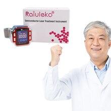 CE 650nm лазерные медицинские часы физиотерапия запястье для лечение гипертонии усилитель сопротивления вязкость крови холестерин