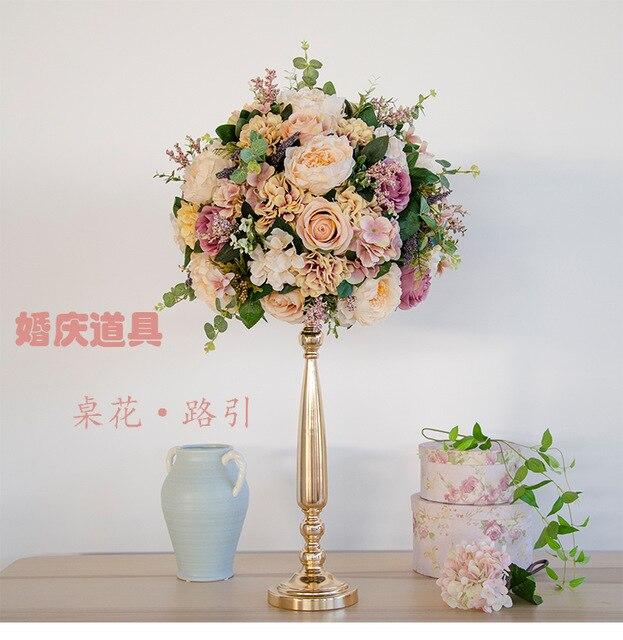 exellent quality Diameter 40cm Wedding flower ball decoration road lead flower wedding flower bouquet party props 4pcs/lot