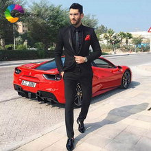 Latest Coat Pant Designs Black Men Suits Wedding Slim Fit Groom Tuxedo Costume Homme Male Blazer Jacket 2Piece Terno Masculino latest coat pant designs royal blue velvet jackets men style stage tailed prom blazer tailcoat costume suits winter tuxedo terno